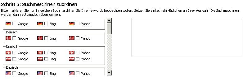 Keywords hinzufügen Schritt 3