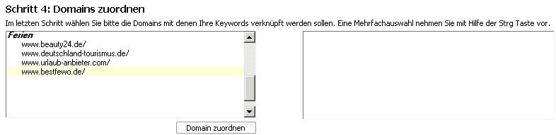 Keywords hinzufügen Schritt 4