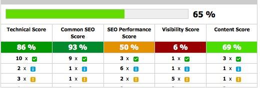 Eine gute Übersicht aller optimierenswerter Faktoren: Der Audit Score.