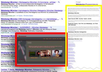 Erkennen Sie den Unterschied zwischen dem roten und dem gelben Rahmen? Google schon...