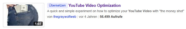 Youtube CTR Optimierung