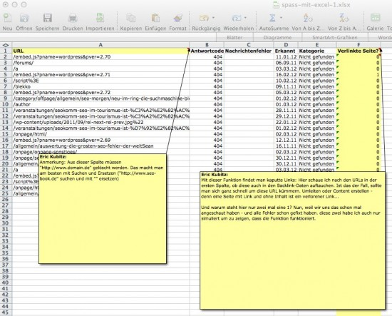 Beispiel 1: Linkmanagement mit GWT und Backlink-Daten
