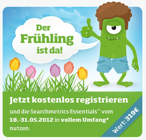 Searchmetrics Essentials Frühlingsaktion