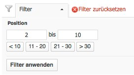 Searchmetrics Filter