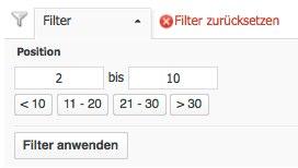 Searchmetrics Filter