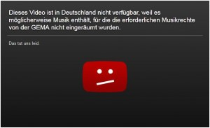 YouTube: GEMA-Sperrbildschirm