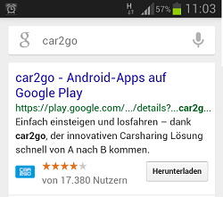 SERP car2go - mobile android thumbnail