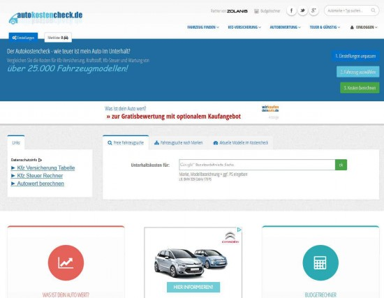 autokostencheck.de - Screenshot