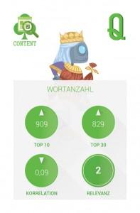 Ranking-Faktoren 2015 Infografik: Spielkarte Wortanzahl