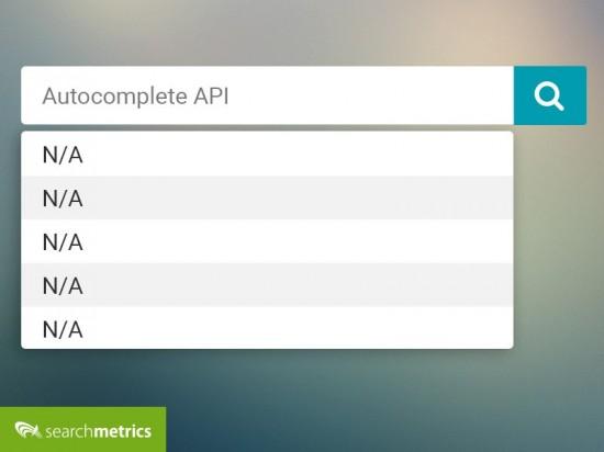 Google Autocomplete API