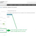 Integration von GWT-GSC-Daten in die Searchmetrics Suite