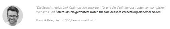 Link Optimization - Testimonial Dominik Peter