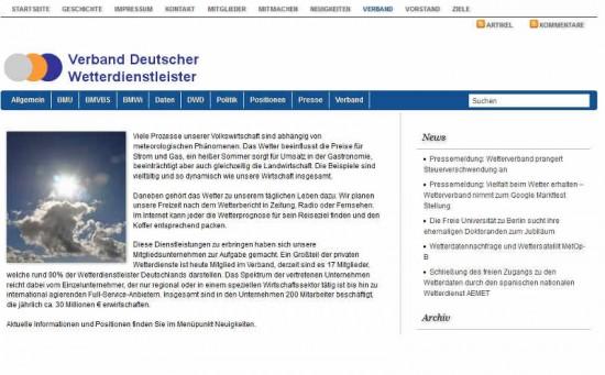 Startseite Wetterverband.de