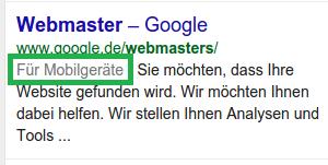 Google - Für Mobilgeräte