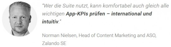 Norman Nielsen, Head of Content Marketing und ASO von Zalando über App Tracking mit der Searchmetrics Suite.