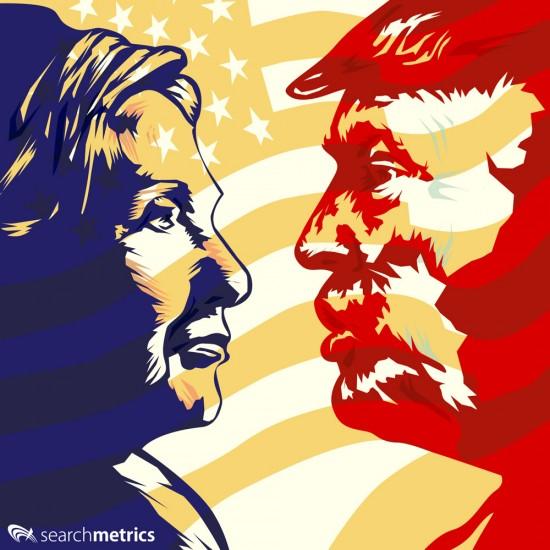 Clinton vs Trump Titel