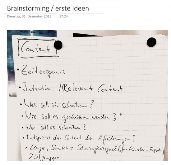 2013: Erstes Brainstorming zur Content Experience im Büro von Marcus Tober, Searchmetrics