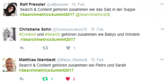 Twitter Searchmetrics Summit 2017