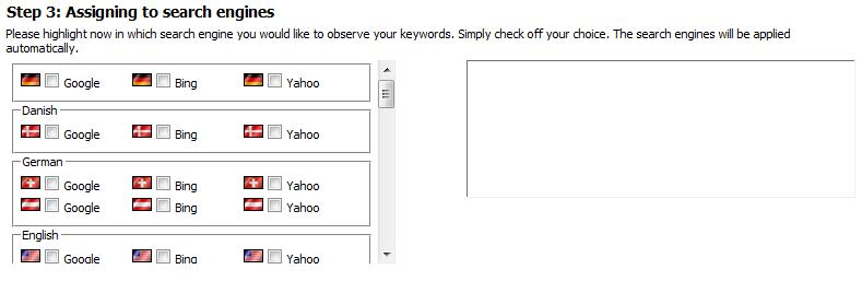 Adding Keywords Step 3