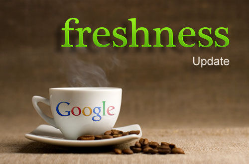 Google Freshness Image via the searchmetrics.com blog