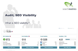 SEO Visibility Slide from 'Competitive Analysis: Realize Your Visibility'