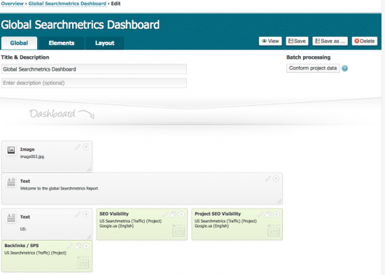 Big Data in SEO (7): Searchmetrics Dashboards