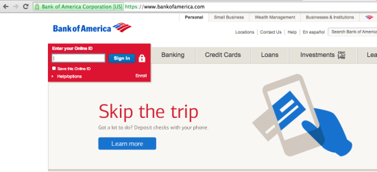 bank of america ssl