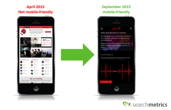 last.fm Mobile Experience before/after