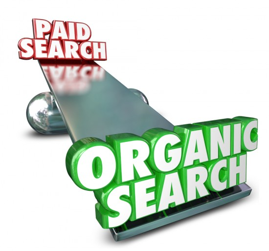 Searchmetrics paid vs organic search