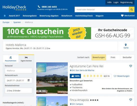 """Google-Suchergebnisposition 1 für das Keyword """"Hotel Mallorca"""""""