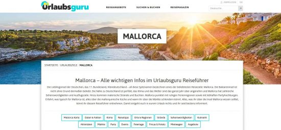 """Google-Suchergebnisposition 1 für das Keyword """"Mallorca Reisetipps"""""""