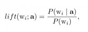 Lift-Scrore Formel