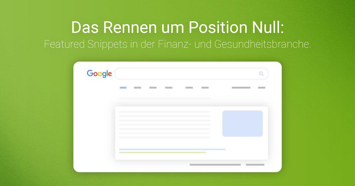 Featured Snippets: Daten & Infografiken