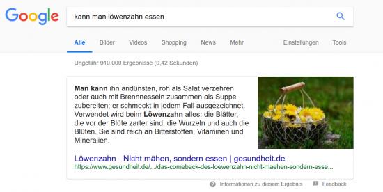 löwenzahn-essen-featured-snippet-beispiel