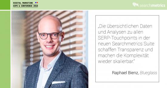 Searchmetrics-Statement dmexco 2018 - Raphael Bienz
