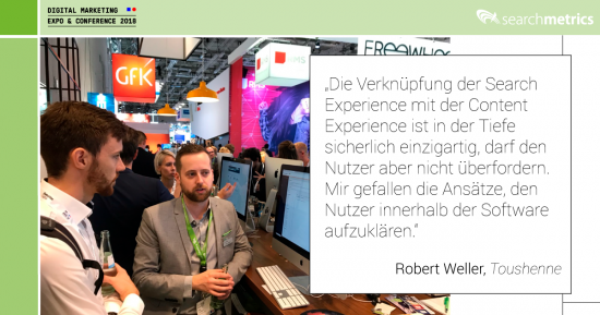 Searchmetrics-Statement dmexco 2018 - Robert Weller
