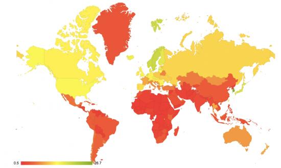 Global internet speeds - pokey to blazing-fafst