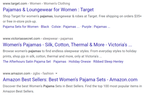 Image of Target Search on Google