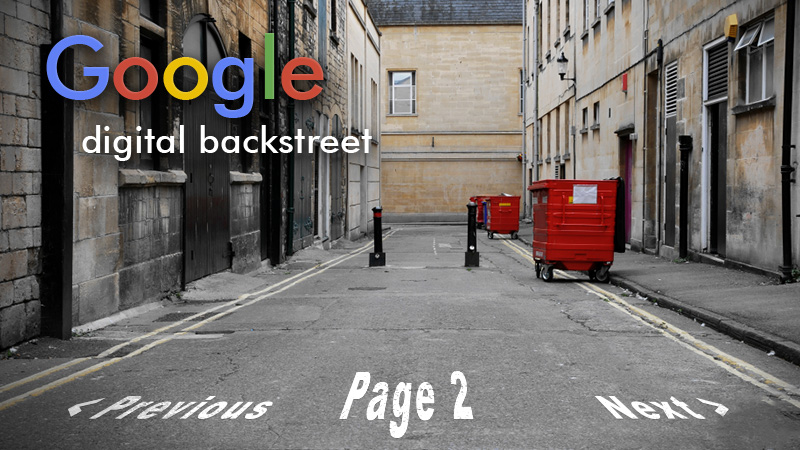 The Digital Backstreet - Google Page 2 - Searchmetrics