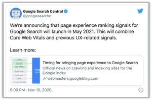 December Core Update Google Twitter Post